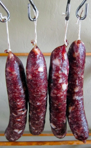Simple salami, hanging