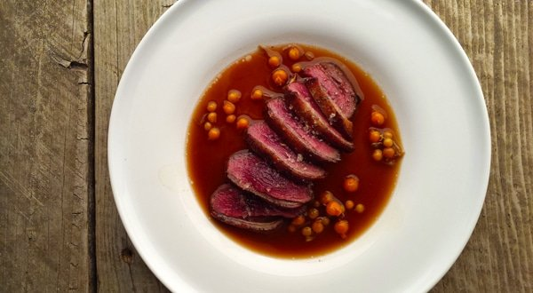 how to serve duck breast
