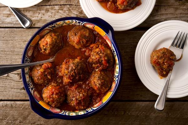 Mexican venison meatballs