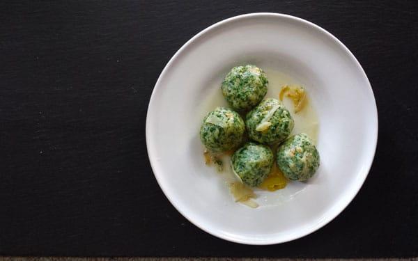 Italian spinach dumplings