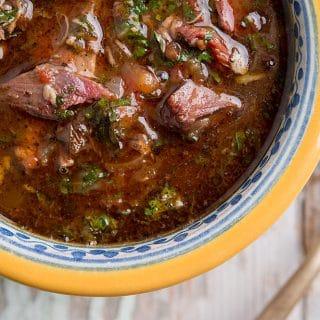 Mexican chocolomo stew