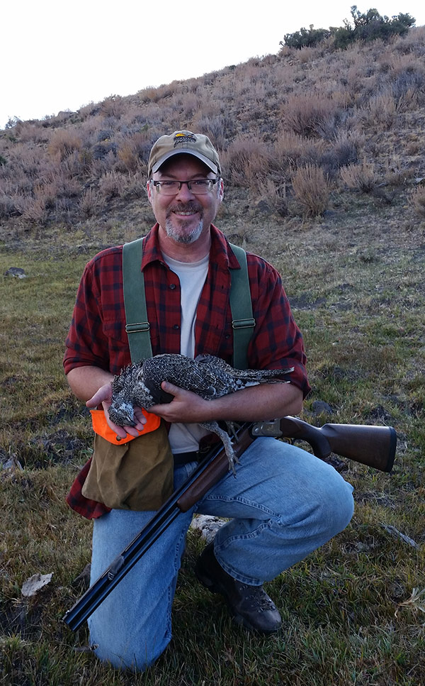 Hank Shaw with a sage grouse