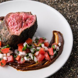 Elk Tenderloin with Ancho Sauce
