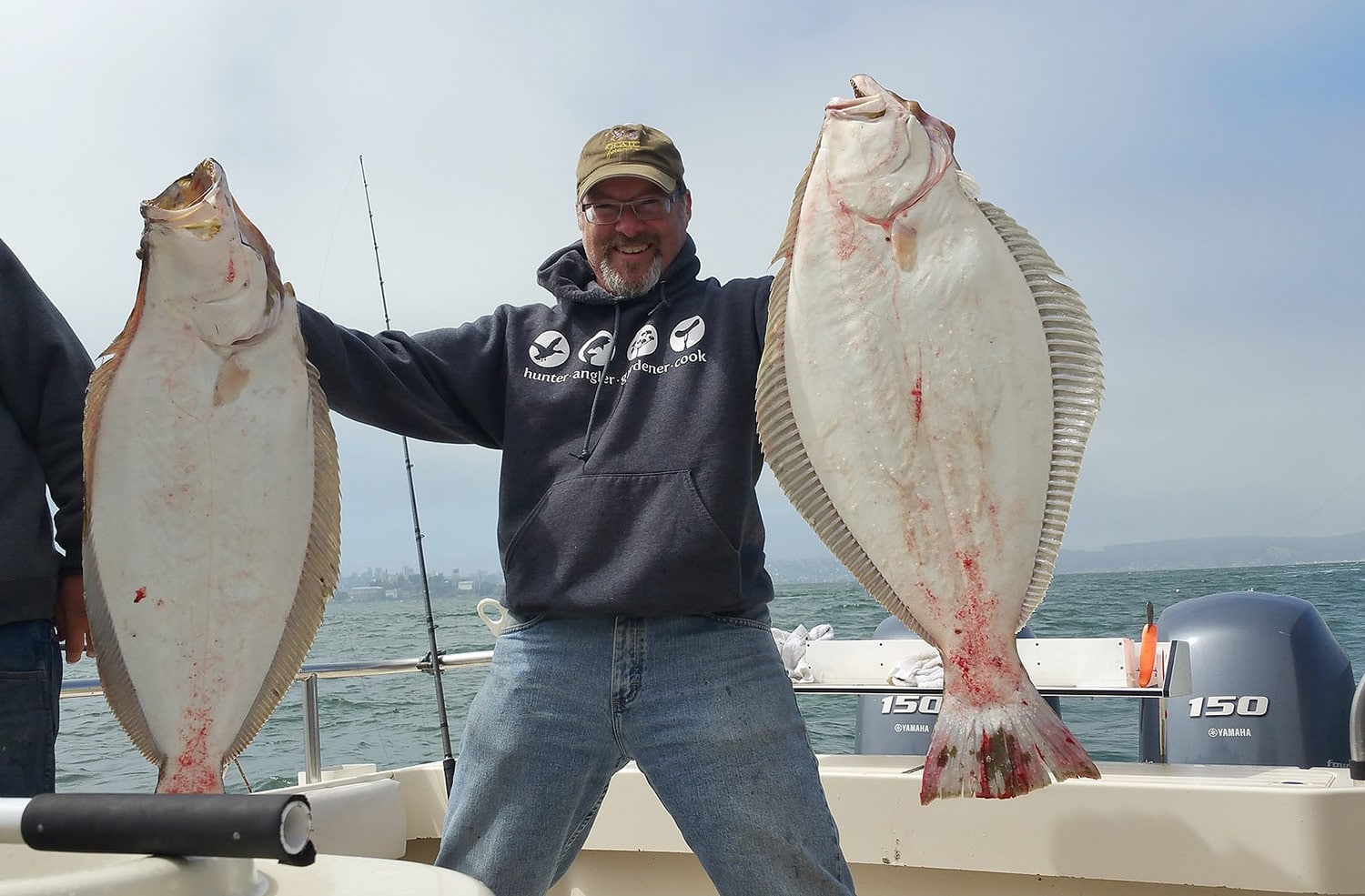 Hank Shaw with halibut