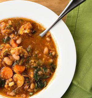 finished winter minestrone recipe