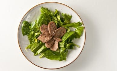 Braised venison tongue salad