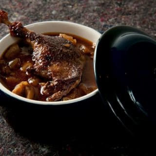 duck legs with chestnuts recipe