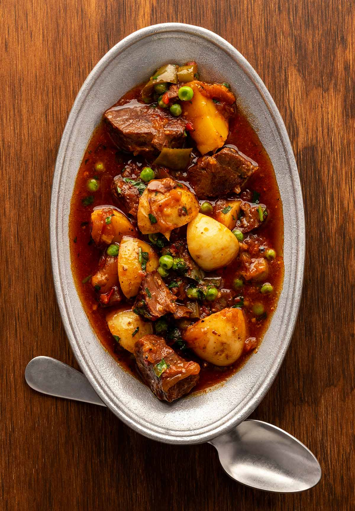 A North African venison stew in a serving bowl