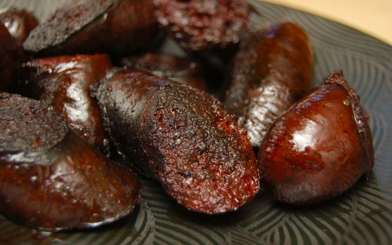 cooked blood sausage