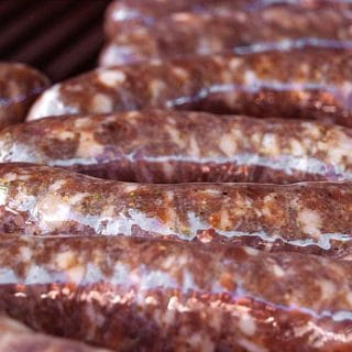 Venison sausage with garlic