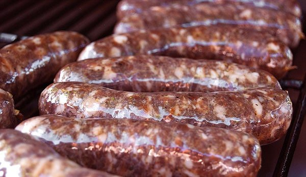 Venison sausage with garlic
