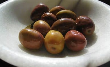 brine cured green olives