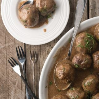 A platter of authentic Swedish meatballs