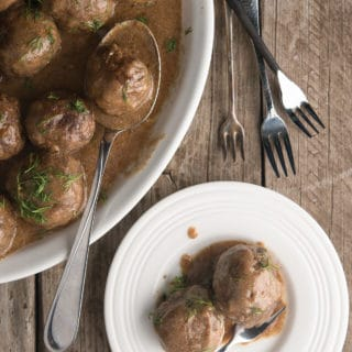 Swedish meatballs made from venison, ready to eat