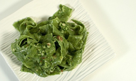 ramp pasta with ramp pesto