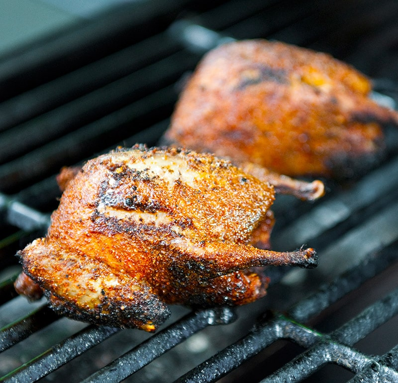 Cajun grilled doves