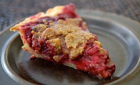slice of plum pie