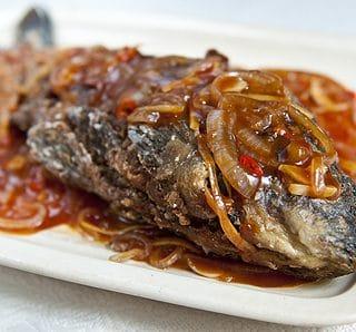 sichuan crispy sweet sour carp