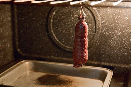 Canada goose neck sausage roasting