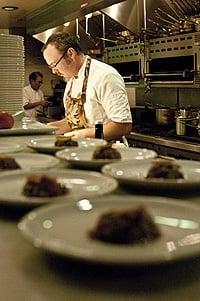 Hank Shaw plating food