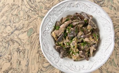 pheasant with mushrooms, brandy and cream