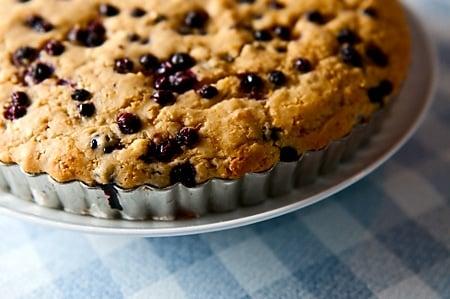 huckleberry cake recipe in a tart pan