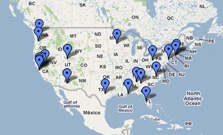 Hun, Gather, Cook book tour map