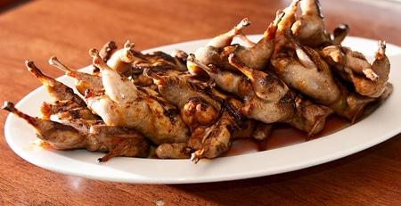 grilled quail