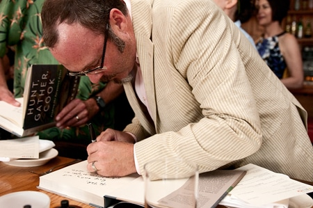 Hank Shaw signing Hunt, Gather, Cook