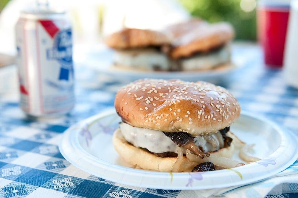 venison mushroom burgers