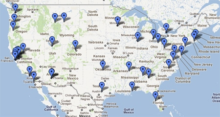 Hank Shaw's book tour map