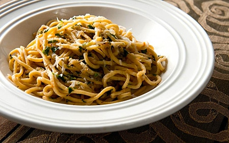 pasta from wapato flour