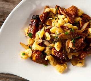 chanterelle and spaetzle recipe