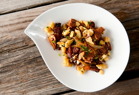 chanterelle spaetzle recipe
