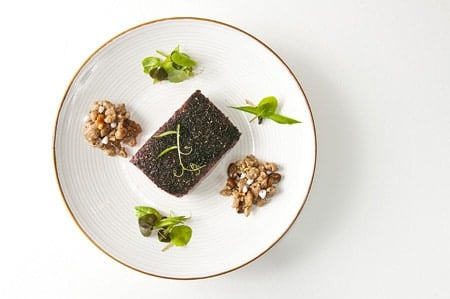 A failed, yet fancy-looking plate of food