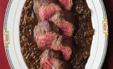 venison with morels recipe