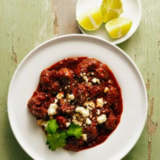 A bowl of chile colorado