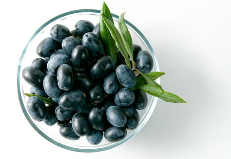 fresh black olives