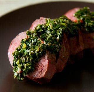 venison with chimichurri recipe