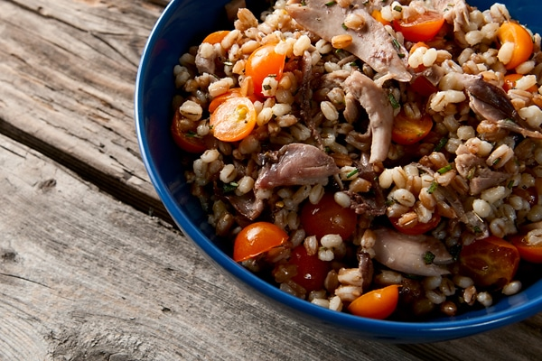 grouse salad with barley recipe