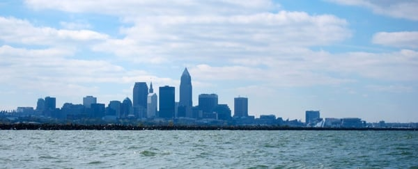 The Cleveland skyline from the lake.