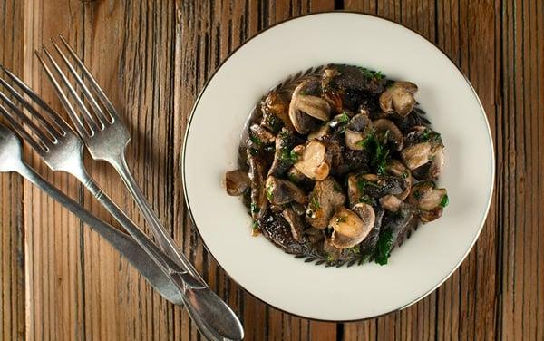 champignons provencal recipe in a bowl