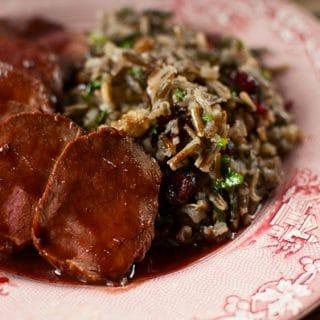 venison backstrap cumberland sauce recipe