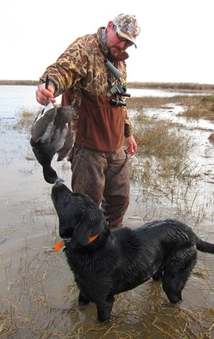 RJ Waldron and his dog Ninja