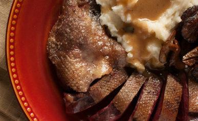 duck with maple bourbon gravy recipe