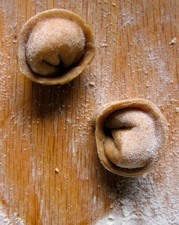 uncooked cappelletti pasta