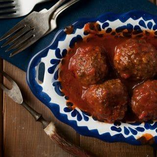 Venison Meatballs, Greek Style