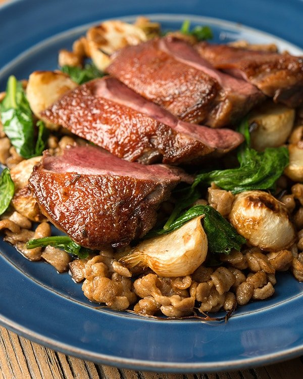 duck with turnips