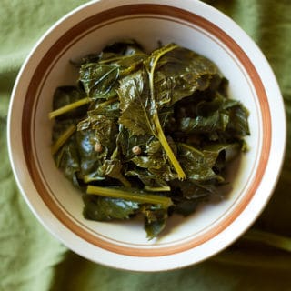 pickled mustard greens in a bowl