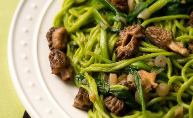 ramp pasta with morels recipe